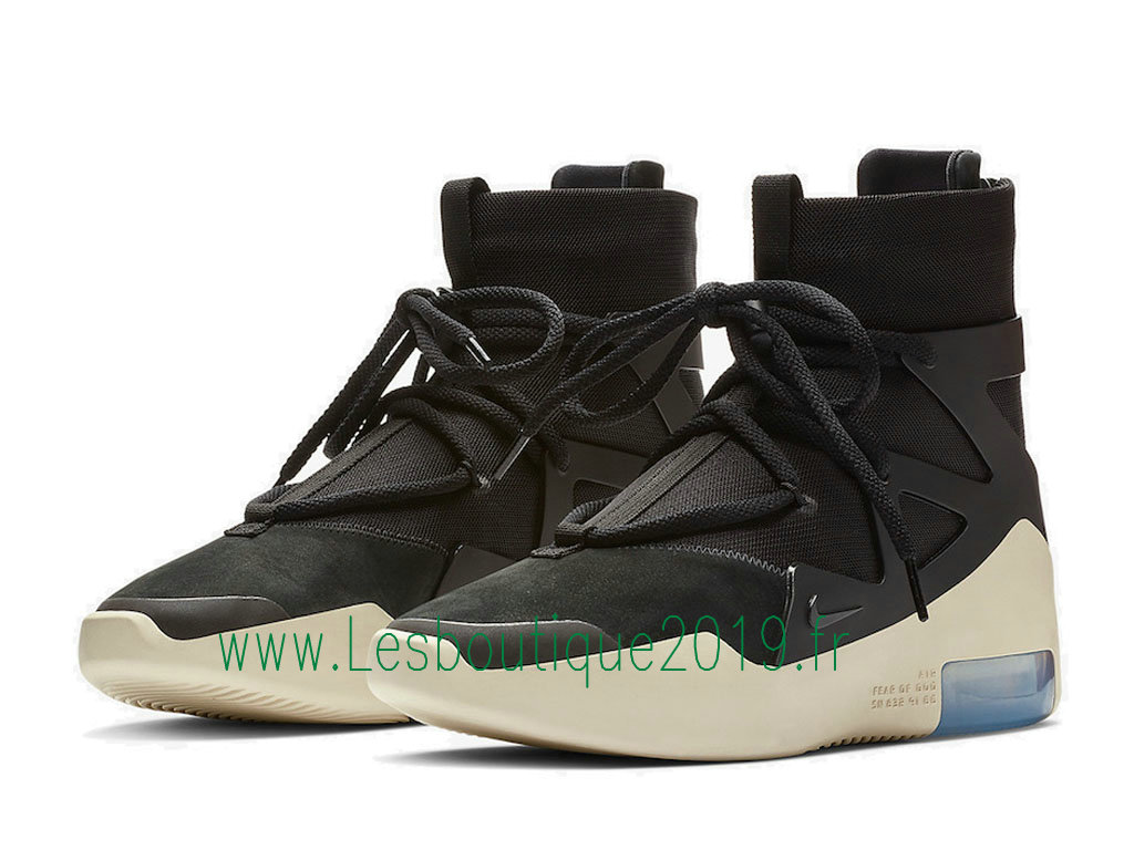 7bf73fd0ee37 ... Nike Air Fear of God 1 Black Men´s Nike Pas Cher Shoes Black White ...