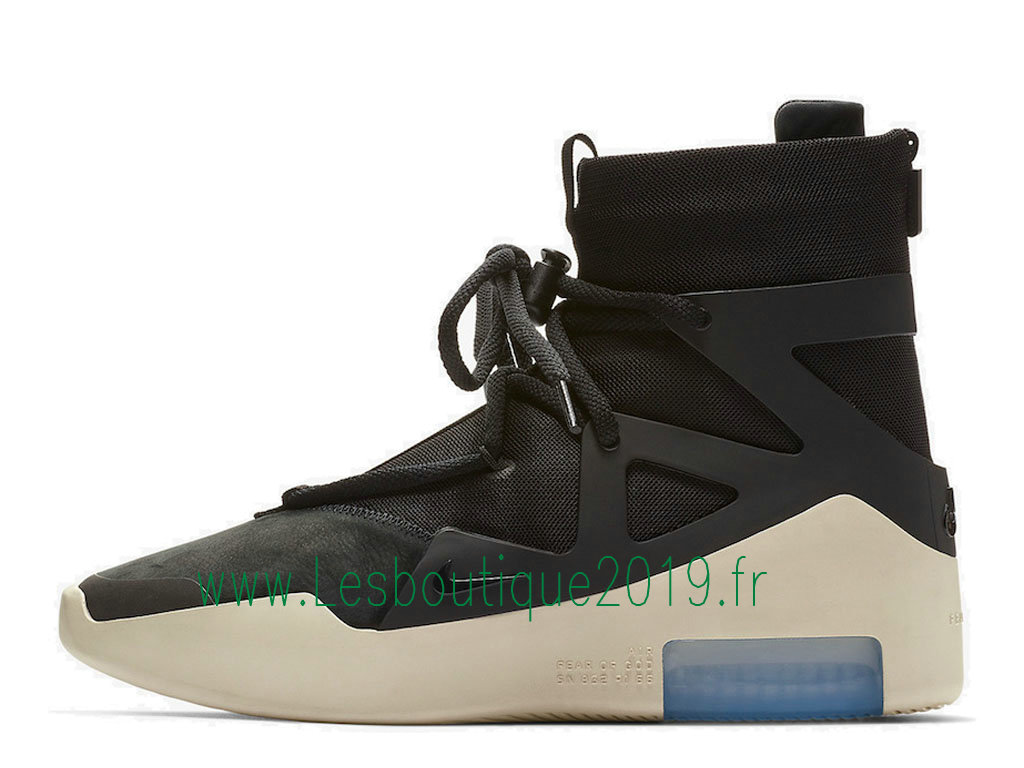 d0bf16abbeb0 Nike Air Fear of God 1 Black Chaussures Nike Pas Cher Pour Homme Noir Blanc  AR4237 ...