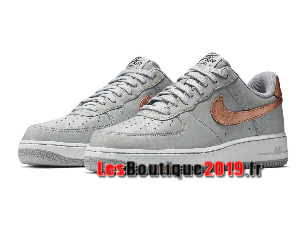 Nike Air Force 1 07 LV8 Low Chaussures Nike Basket Pas Cher Pour Homme Gris Or 718152-004