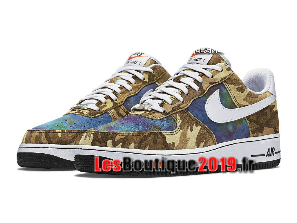 Nike Air Force 1 07 LV8 Low Chaussures Nike Basket Pas Cher Pour Homme Vert Blanc 718152-300