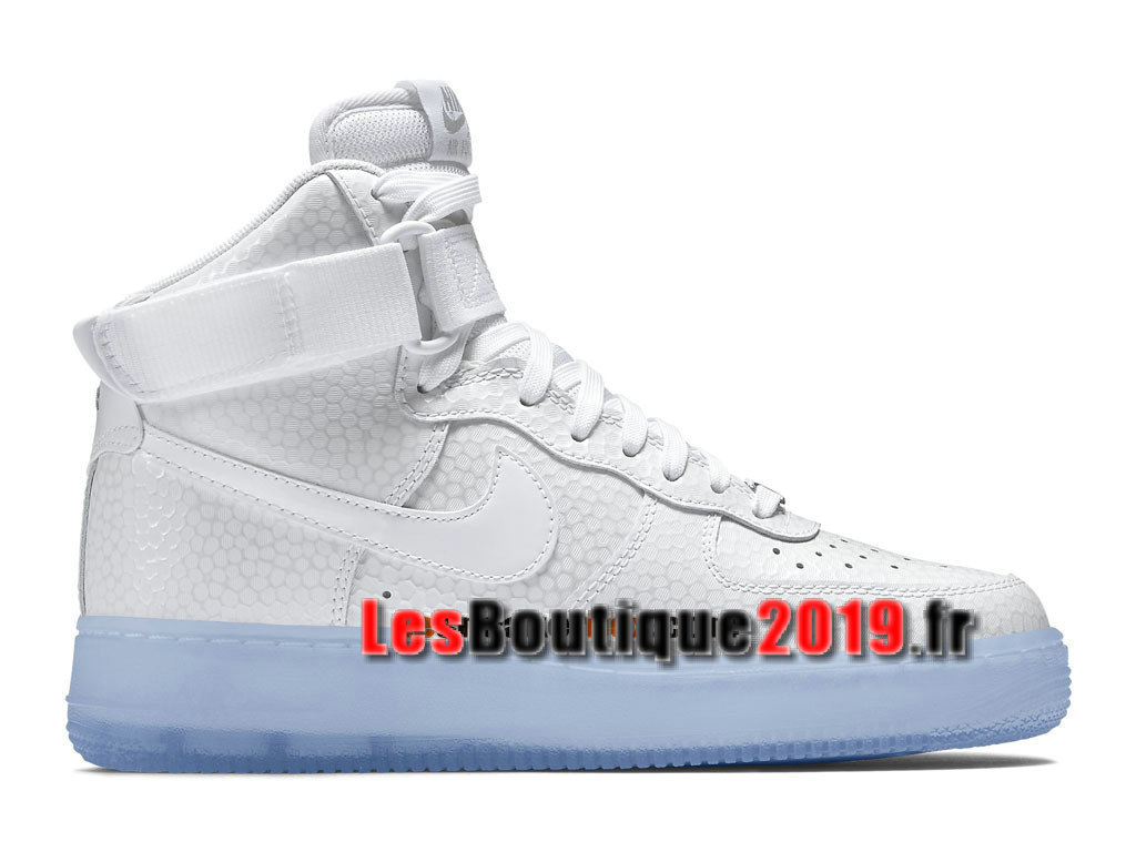 Nike Air Force 1 Hi Premium Chaussures Nike Running Pas Cher Pour Homme Blanc 654440-101H
