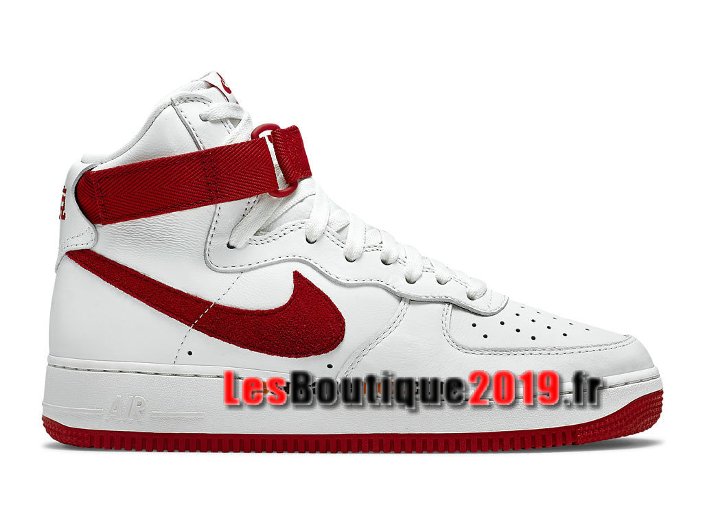 Nike Air Force 1 High Retro Nai Ke QS China Edition Chaussures Nike Basket Pas Cher Pour Homme Blanc Rouge 743546-100