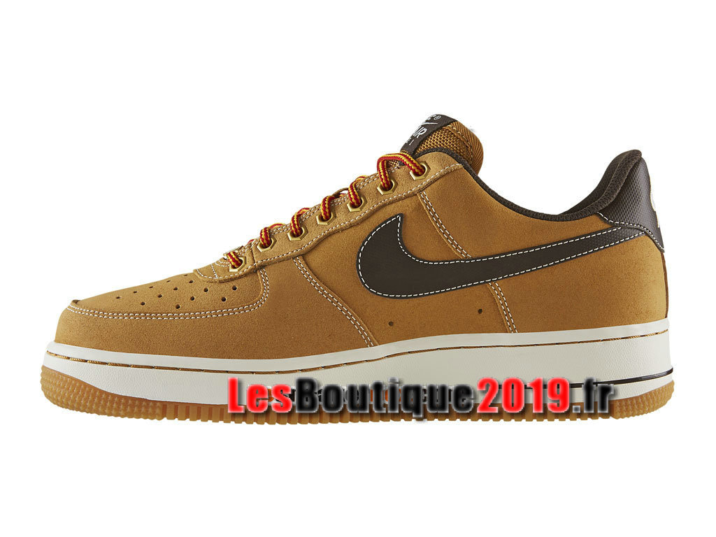 Nike Air Force 1 Low Chaussures Nike Sportswear Pas Cher Pour Homme Brun Noir 488298-704
