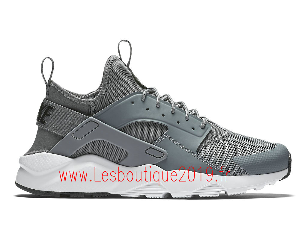 Nike Air Huarache Ultra Chaussures Officiel Running Pas Cher Pour Homme Gris Blanc 819685_011