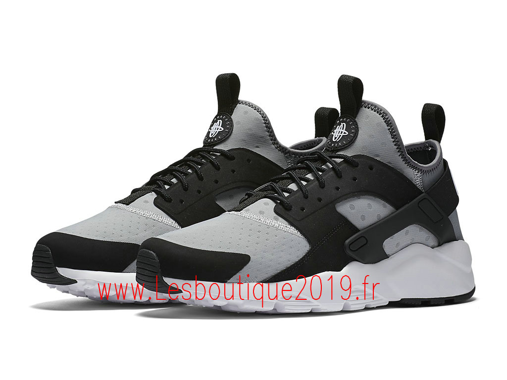 detailed pictures eb9ac ba0cb ... Nike Air Huarache Ultra Chaussures Officiel Running Pas Cher Pour Homme  Noir Gris 819685_010 ...