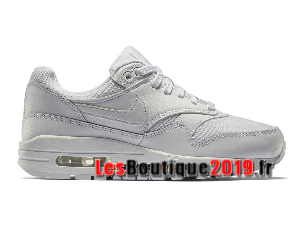 Nike Air Max 1/87 Blanc Chaussures de BasketBall Pas Cher Pour Homme 555766-119H