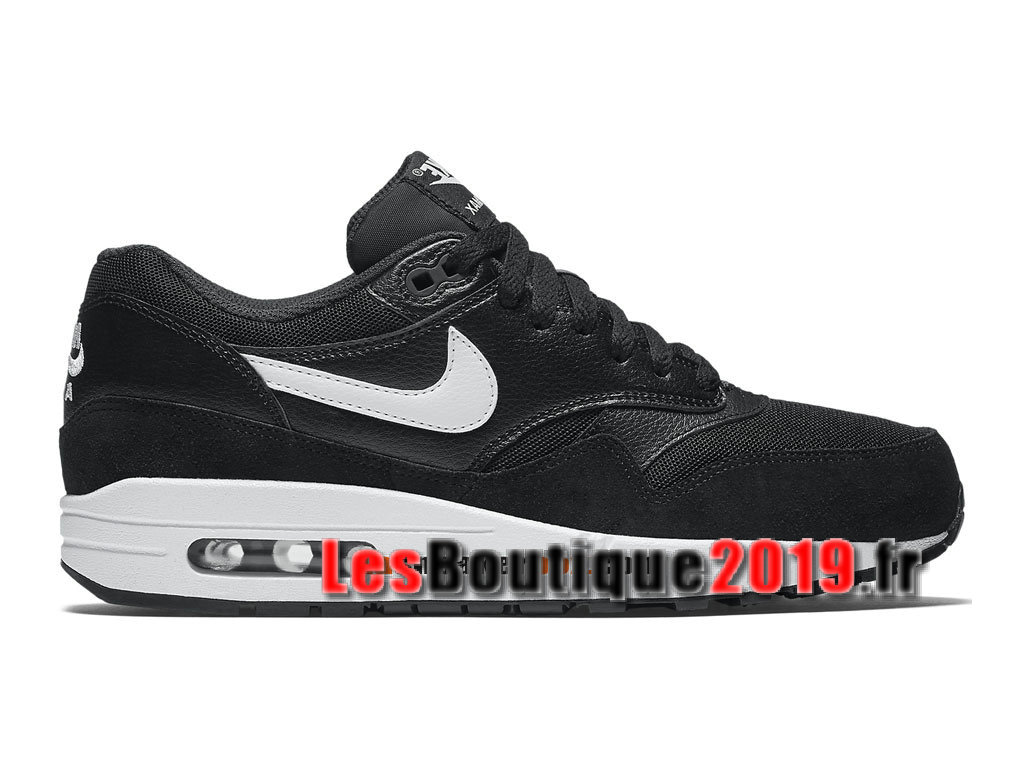 free shipping 5f142 e0c05 Nike Air Max 1 87 Essential Noir Blanc Chaussures de BasketBall Pas Cher  Pour Homme ...