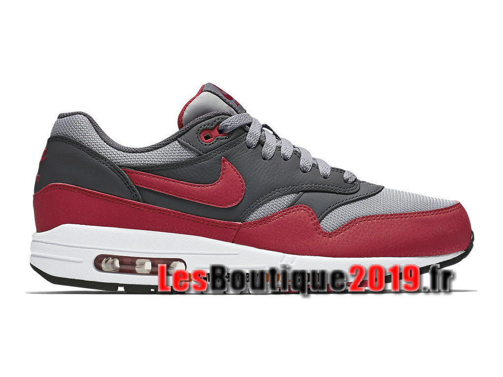 competitive price c3f8f 8c640 Nike Air Max 1 87 Essential Rouge Girs Chaussures de BasketBall Pas Cher  Pour Homme