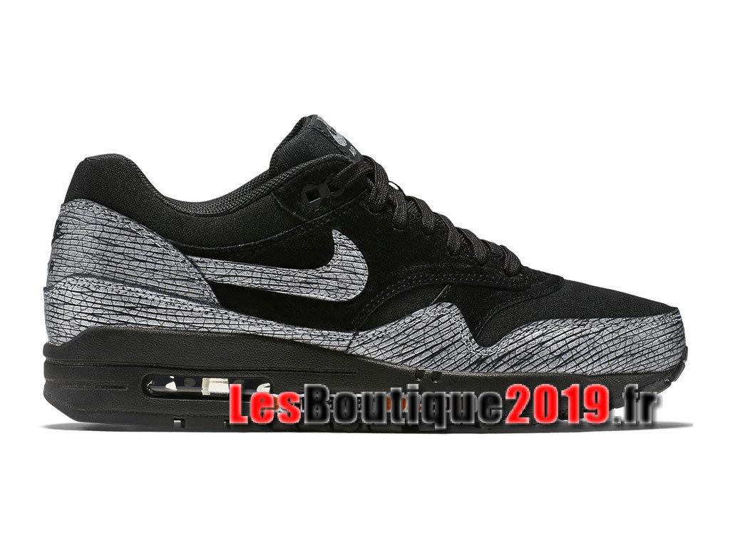 newest bf080 b7b6d Nike Air Max 1 87 Premium Noir Gris Chaussures de BasketBall Pas Cher Pour  Homme ...