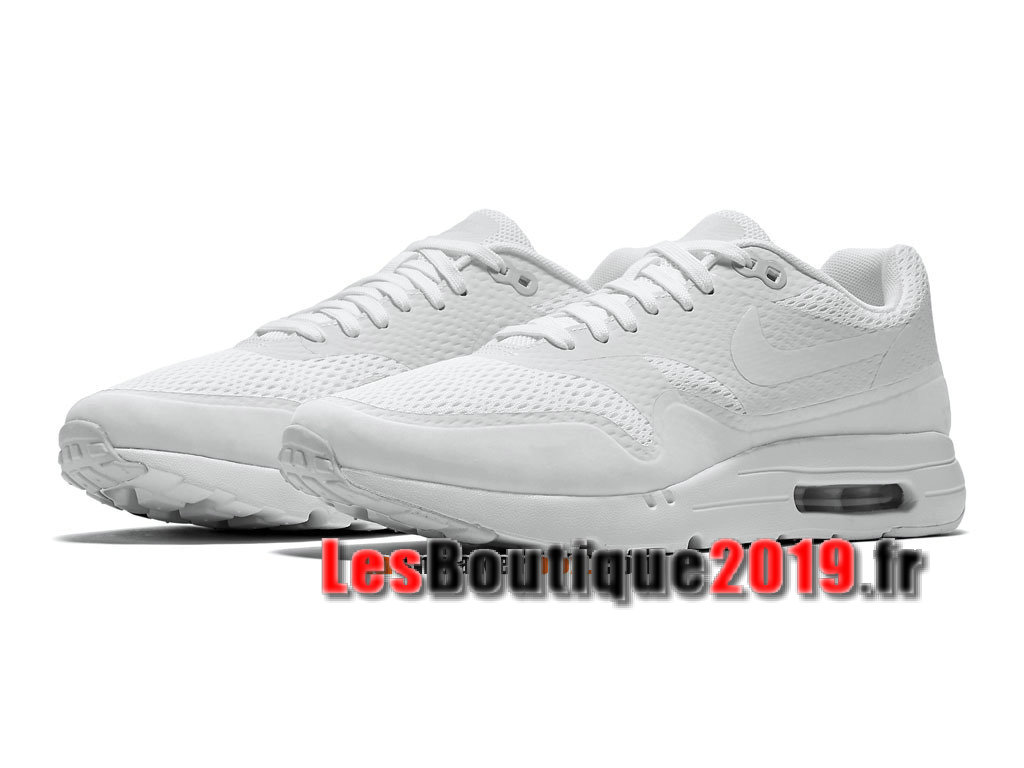 Nike Air Max 1 Ultra Essential Blanc Chaussures de BasketBall Pas Cher Pour Homme 819476-107iD