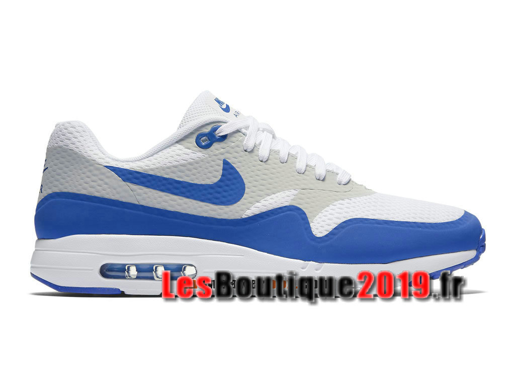 sports shoes bb62b 7201f Nike Air Max 1 Ultra Essential Bleu Blanc Chaussures de BasketBall Pas Cher  Pour Homme 819476 ...