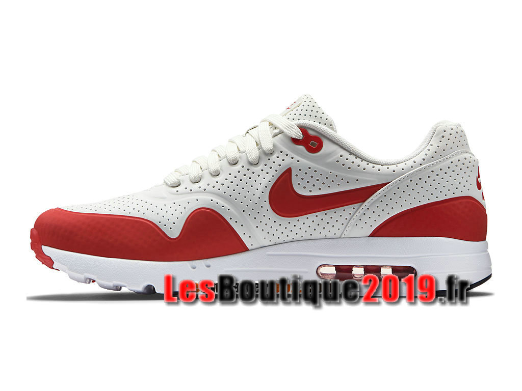 9532cae4a38 ... Nike Air Max 1 Ultra Essential Rouge Blanc Chaussures Nike Prix Pas  Cher Pour Homme 705297 ...