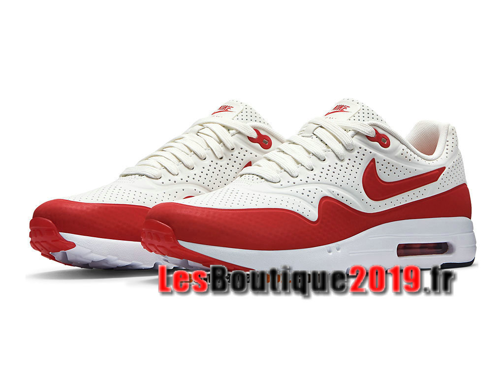 dbe6708801a ... Nike Air Max 1 Ultra Essential Rouge Blanc Chaussures Nike Prix Pas  Cher Pour Homme 705297