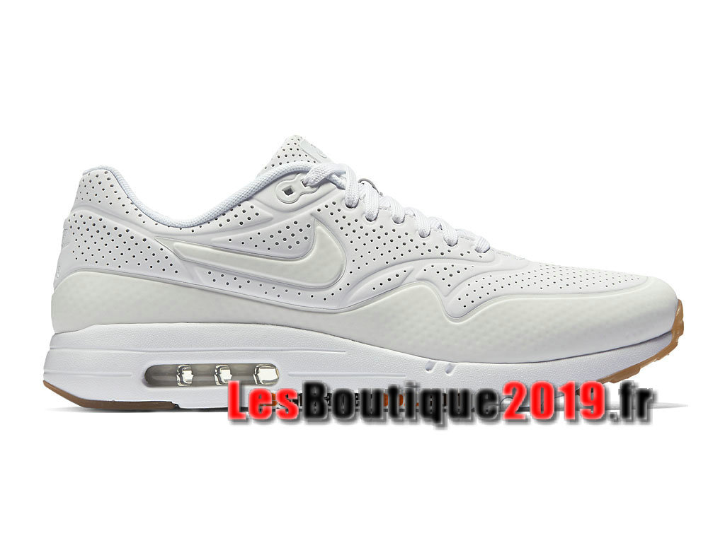Nike Air Max 1 Ultra Moire Blanc Chaussures de BasketBall Pas Cher Pour Homme 705297-111