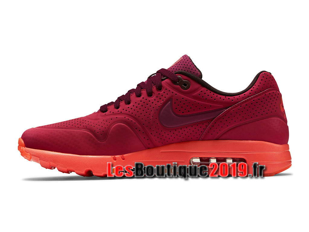 Nike Air Max 1 Ultra Moire CH GS Rouge Chaussures Nike Running Pas Cher Pour Femme/Enfant 724978-600