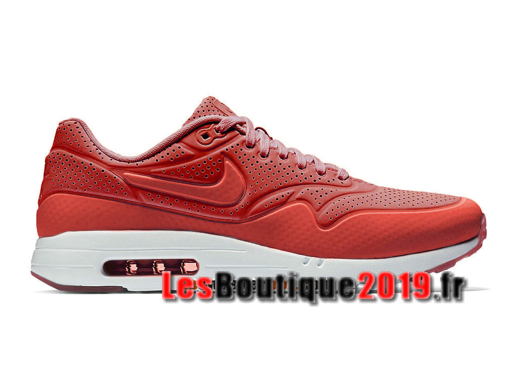 Nike Air Max 1 Ultra Moire CH Rouge Blanc Chaussures de BasketBall Pas Cher Pour Homme 724390-600CH