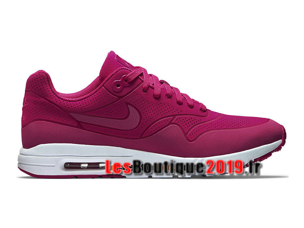 Nike Air Max 1 Ultra Moire GS Rose Chaussures Nike Running Pas Cher Pour Femme/Enfant 704995-601