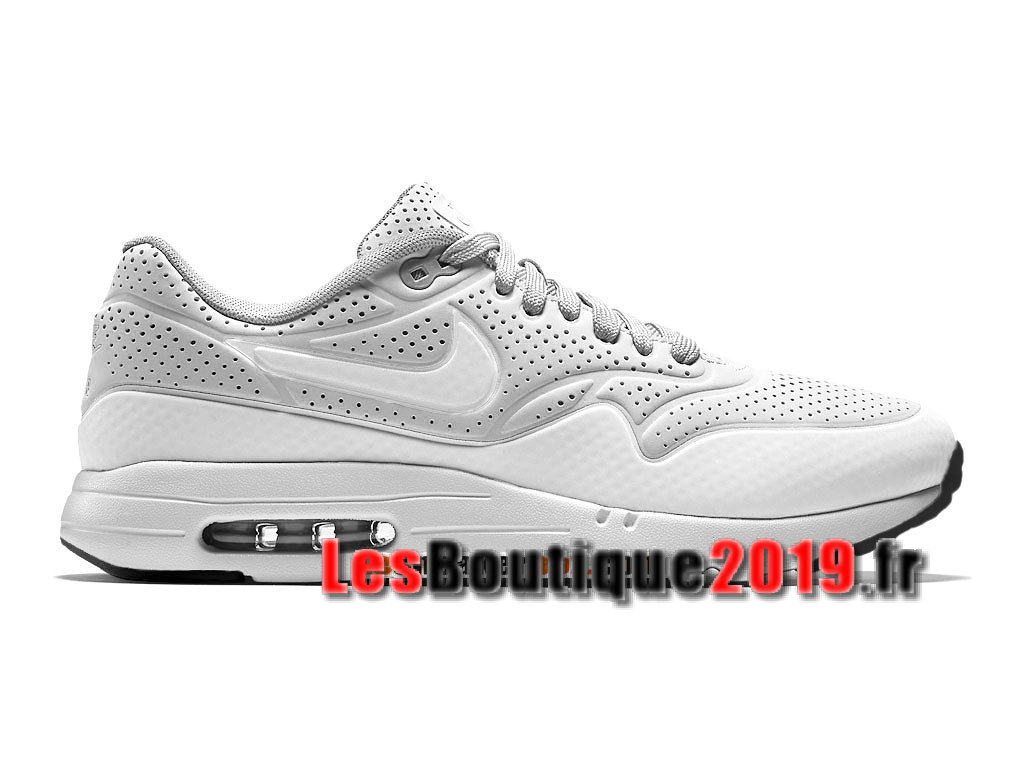 Nike Air Max 1 Ultra Moire iD Blanc Chaussures de BasketBall Pas Cher Pour Homme 705297-010iD