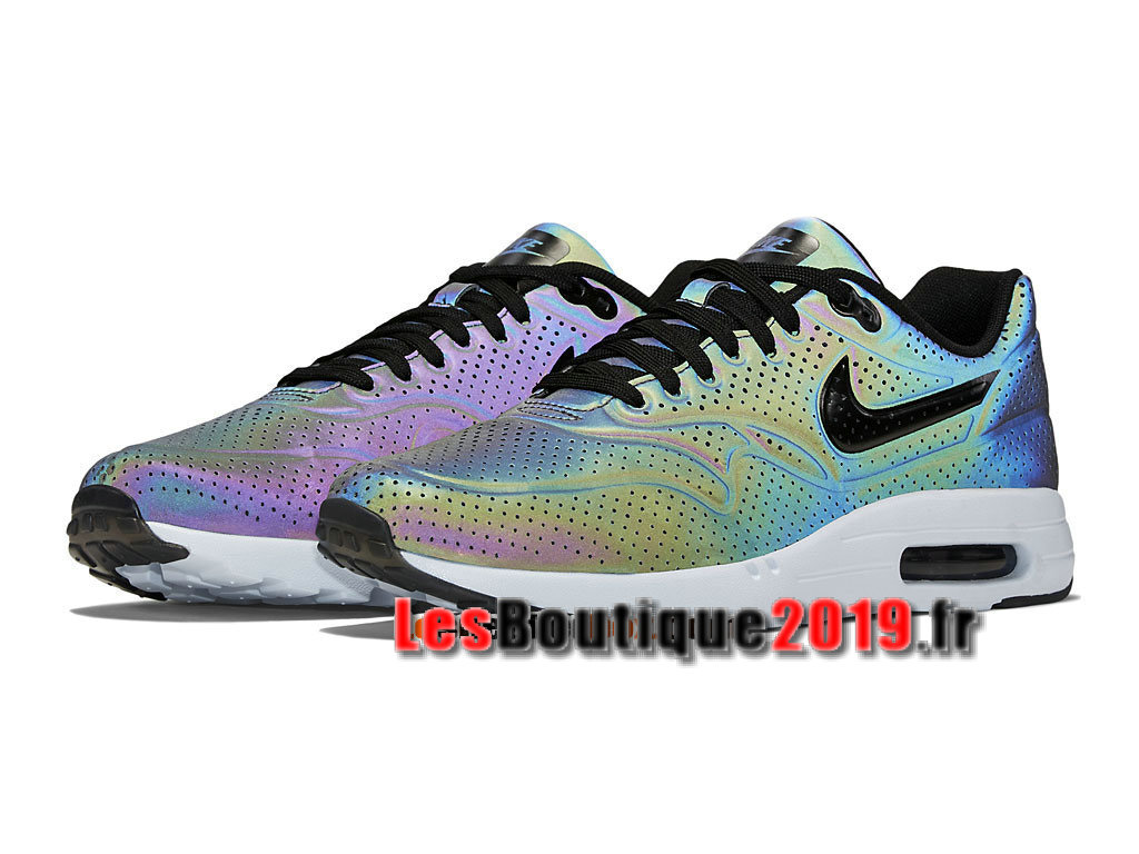 buy popular 25ef1 2325e ... Nike Air Max 1 Ultra Moire QS Iridescent GS Gris Chaussures Nike  Sportswear Pas Cher Pour