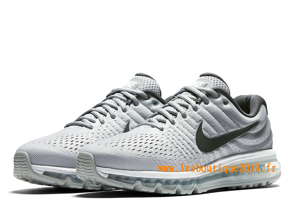 Nike Air Max 2017 Chaussures Nike Running Pas Cher Pour Homme Blanc Noir 849559_101