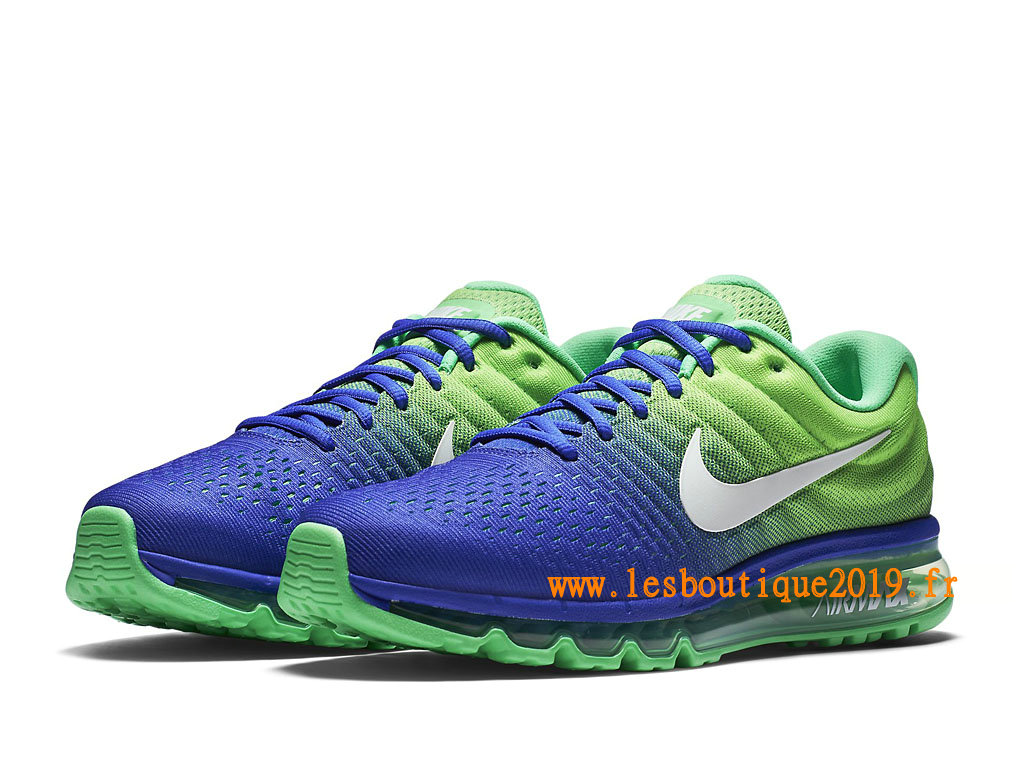 Nike Air Max 2017 Chaussures Nike Running Pas Cher Pour Homme Bleu Vert 849559_403