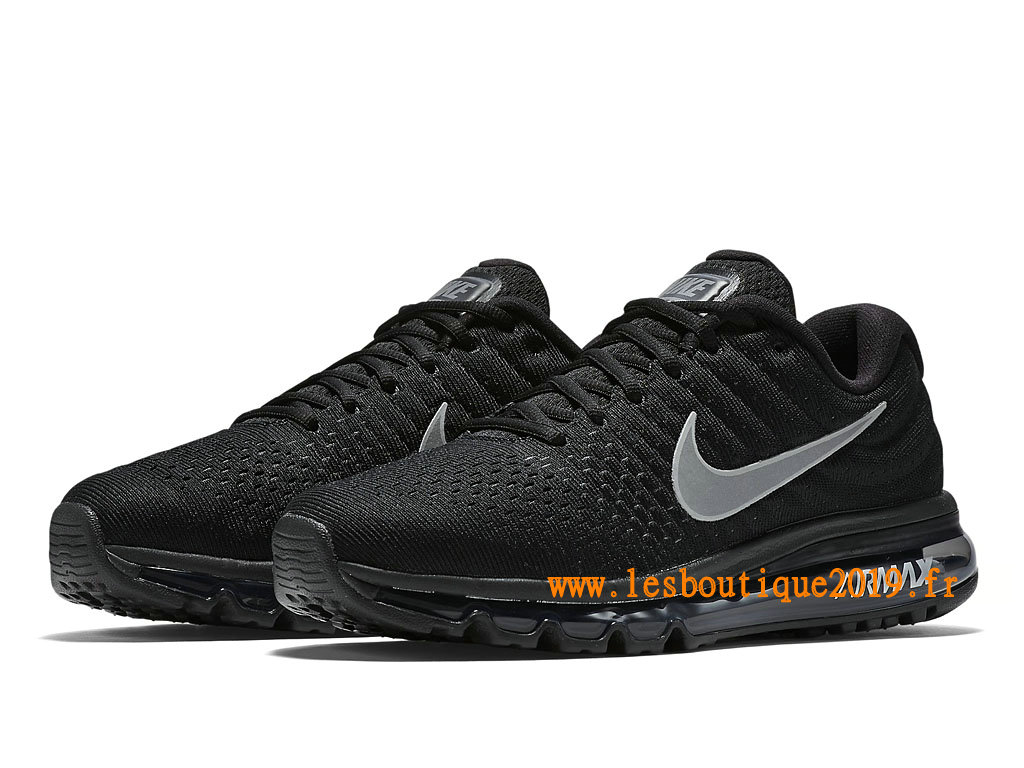 37676f013f6c ... Nike Air Max 2017 Chaussures Nike Running Pas Cher Pour Homme Noir  Blanc 849559 001 ...