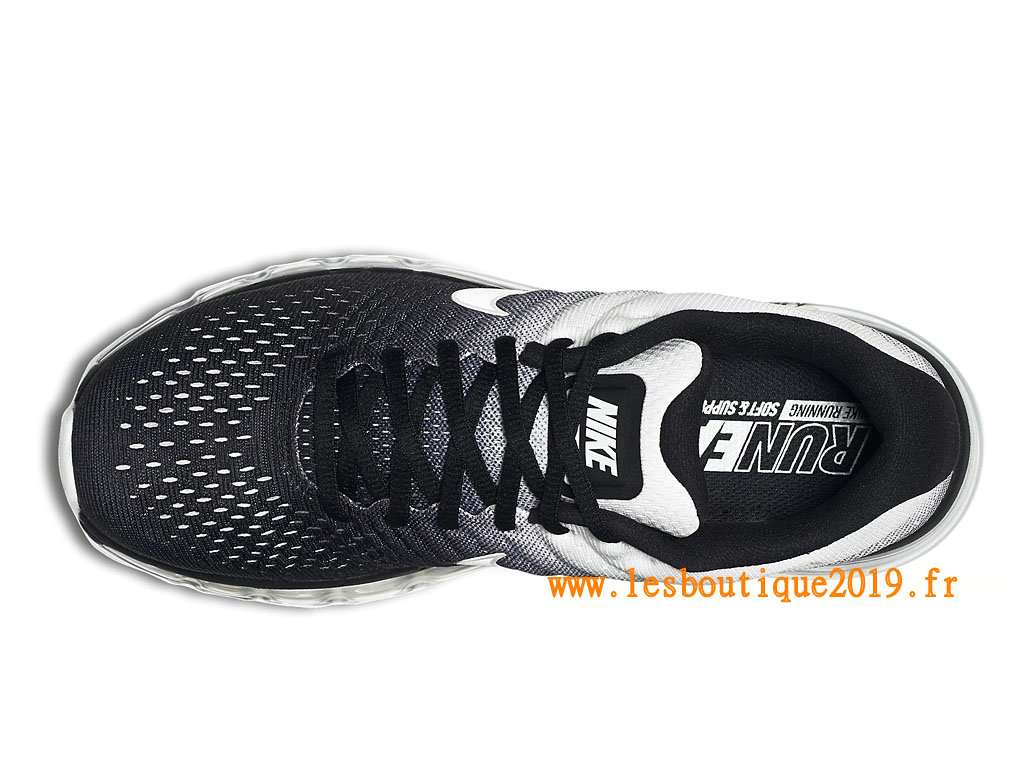 Nike Air Max 2017 Chaussures Nike Running Pas Cher Pour Homme Noir Blanc 849559_010