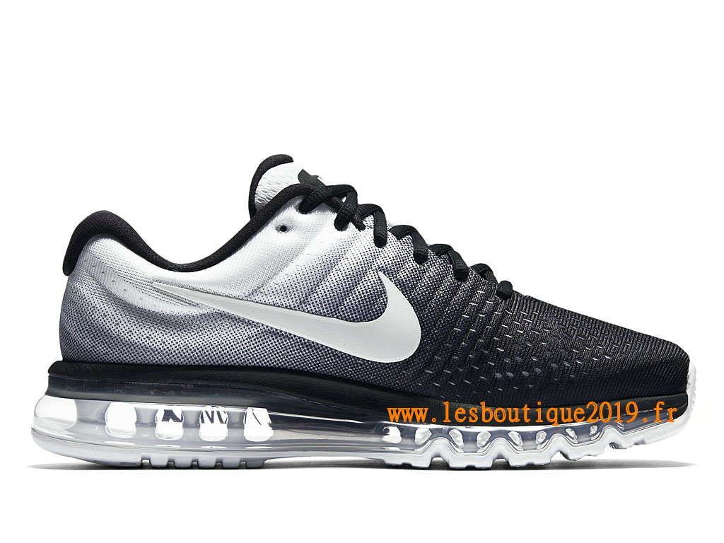 ... Nike Air Max 2017 Chaussures Nike Running Pas Cher Pour Homme Noir Blanc 849559_010 ...