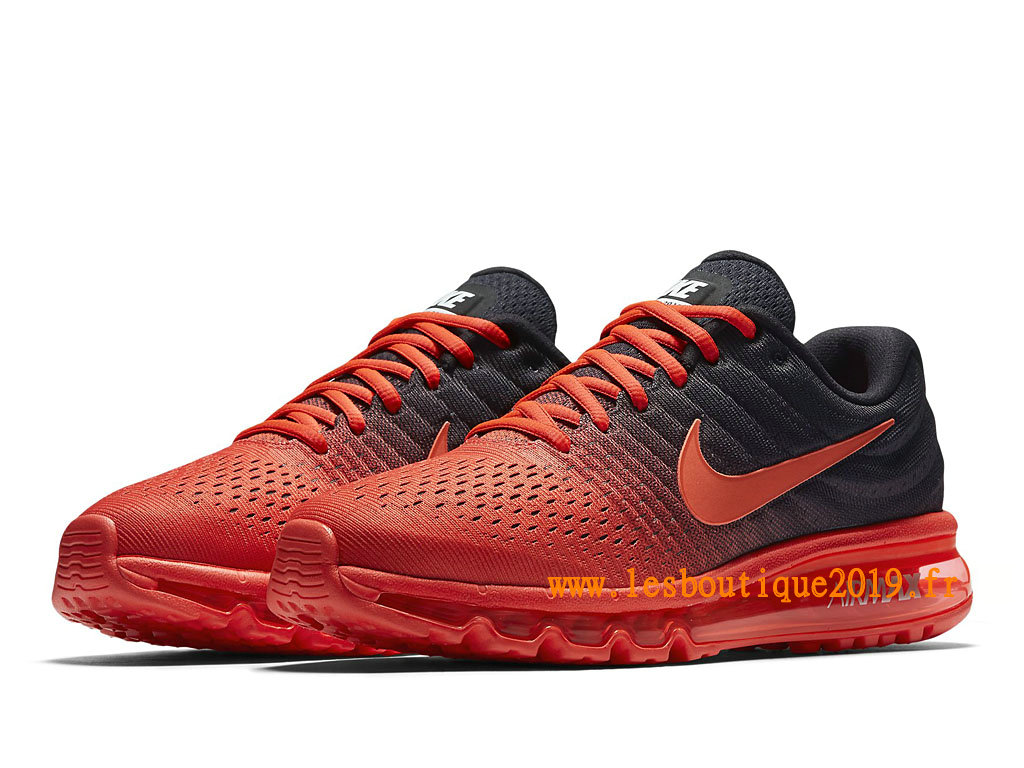 Nike Air Max 2017 Chaussures Nike Running Pas Cher Pour Homme Noir Rouge 849559_600