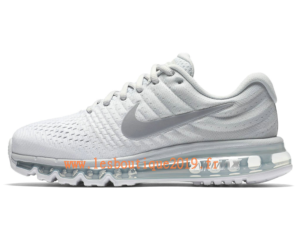 Nike Air Max 2017 GS Blanc Gris Chaussures Nike Running Pas Cher Pour Femme/Enfant 849560_009