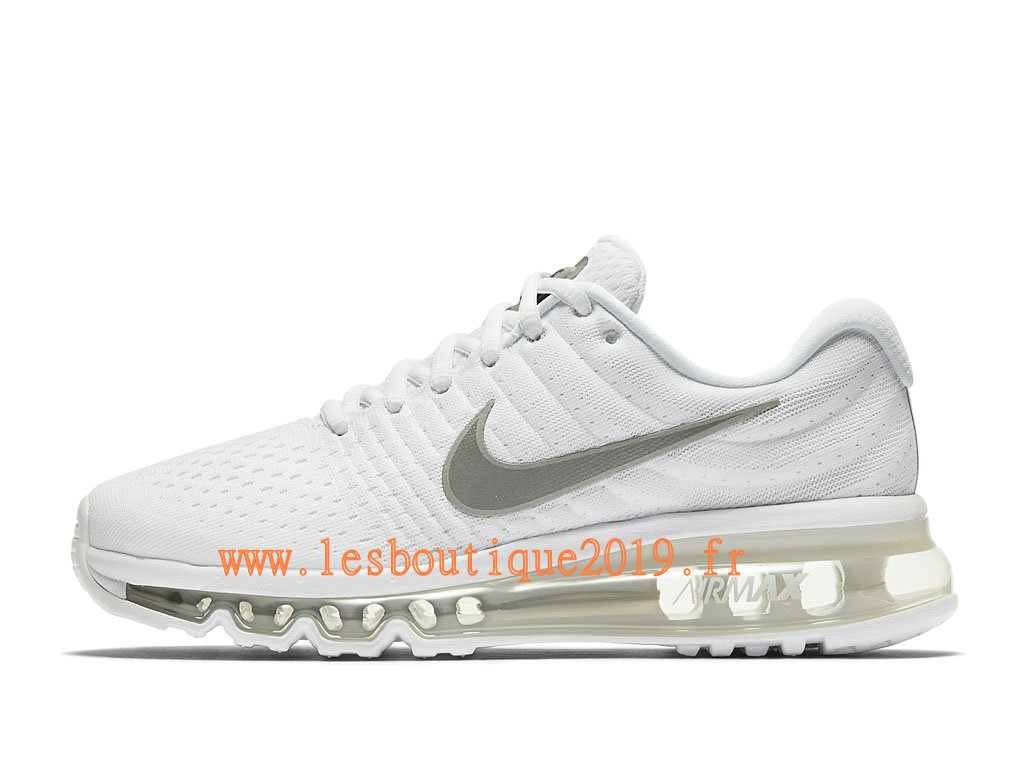 Nike Air Max 2017 GS Blanc Gris Chaussures Nike Running Pas Cher Pour Femme/Enfant 851622_100