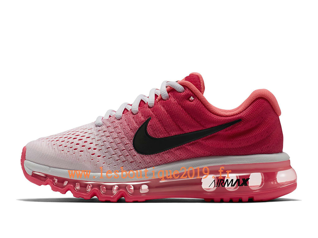 Nike Air Max 2017 GS Blanc Rose Chaussures Nike Running Pas Cher Pour Femme/Enfant 849560_103