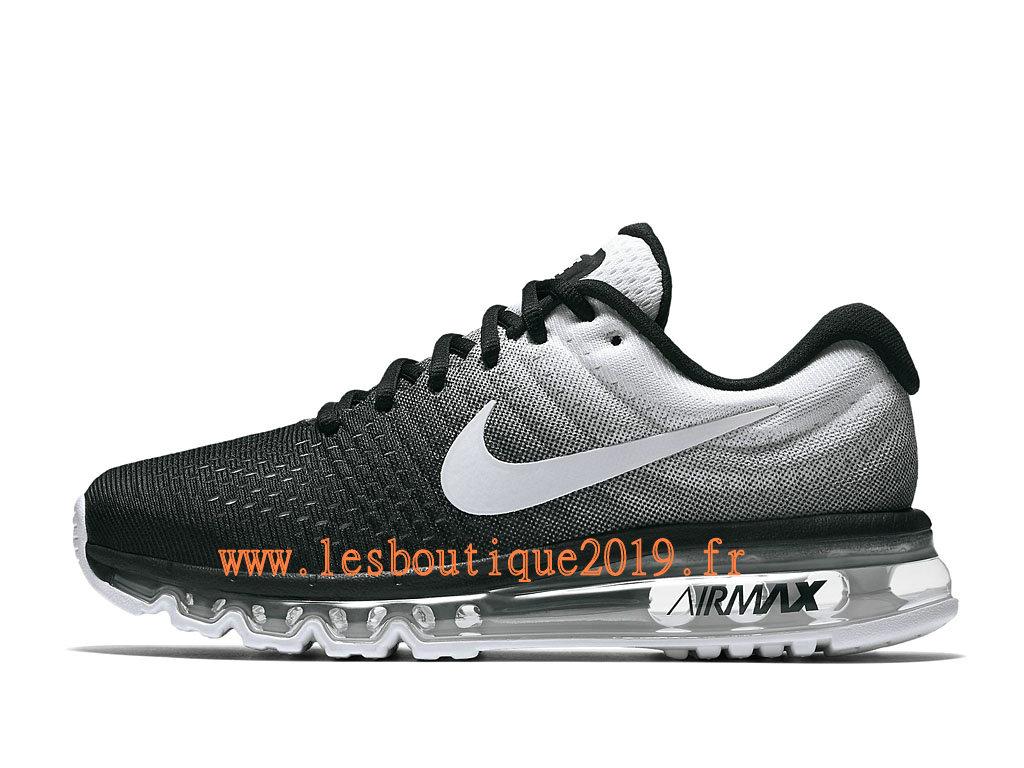 super popular 1040b 4fab2 Nike Air Max 2017 GS Noir Blanc Chaussures Nike Running Pas Cher Pour Femme Enfant  ...