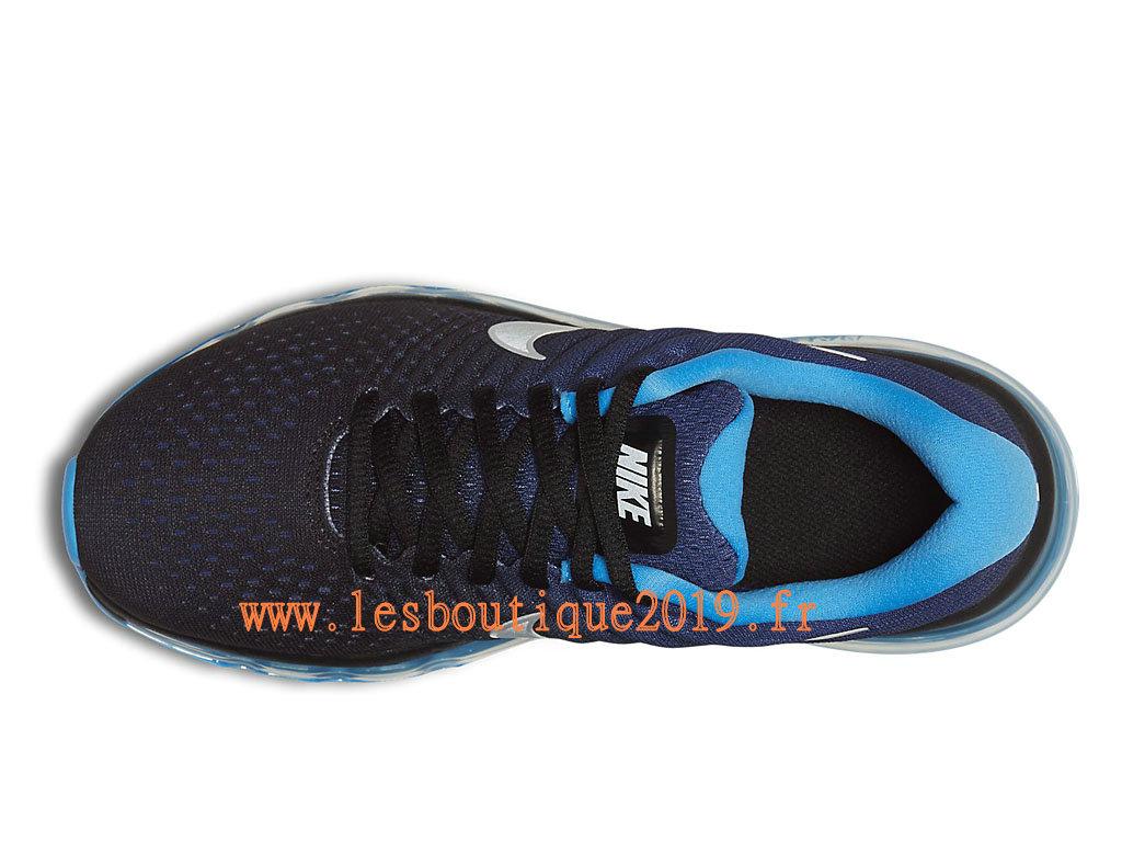 47fda11aea31b ... Nike Air Max 2017 GS Noir Bleu Chaussures Nike Running Pas Cher Pour  Femme Enfant ...