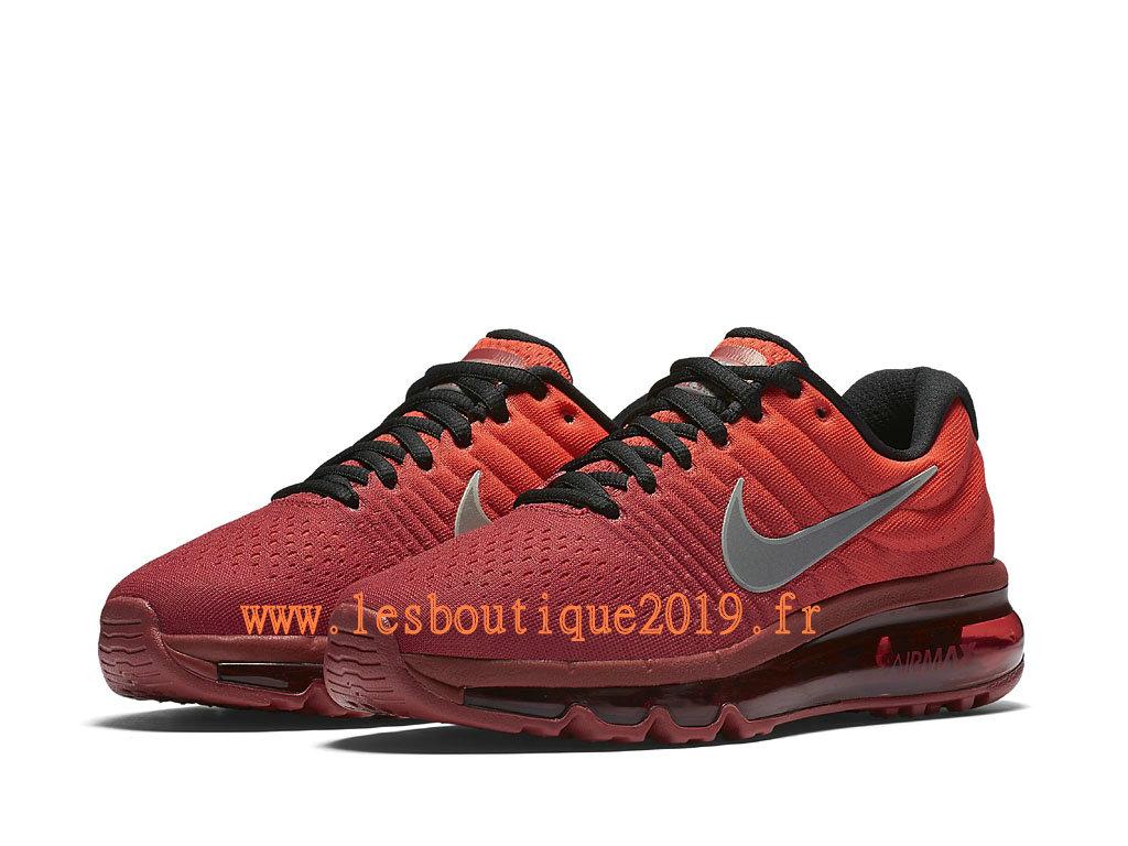 ... Nike Air Max 2017 GS Rouge Noir Chaussures Nike Running Pas Cher Pour Femme/Enfant ...