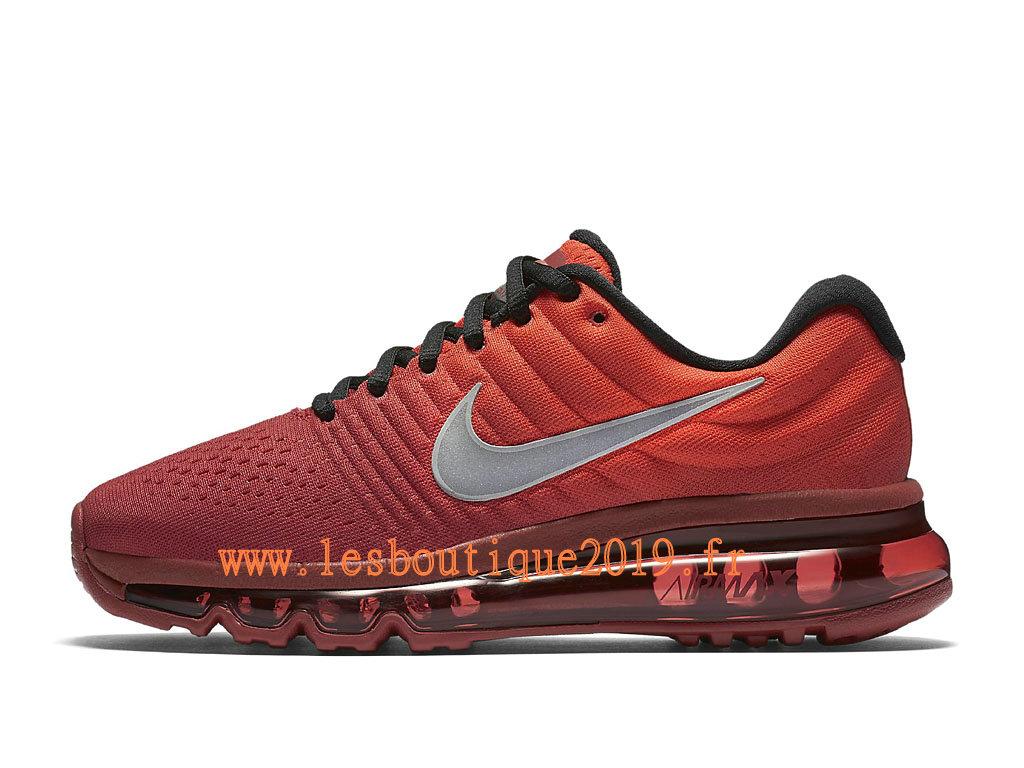 size 40 5e30c 18b71 Nike Air Max 2017 GS Rouge Noir Chaussures Nike Running Pas Cher Pour Femme Enfant  ...