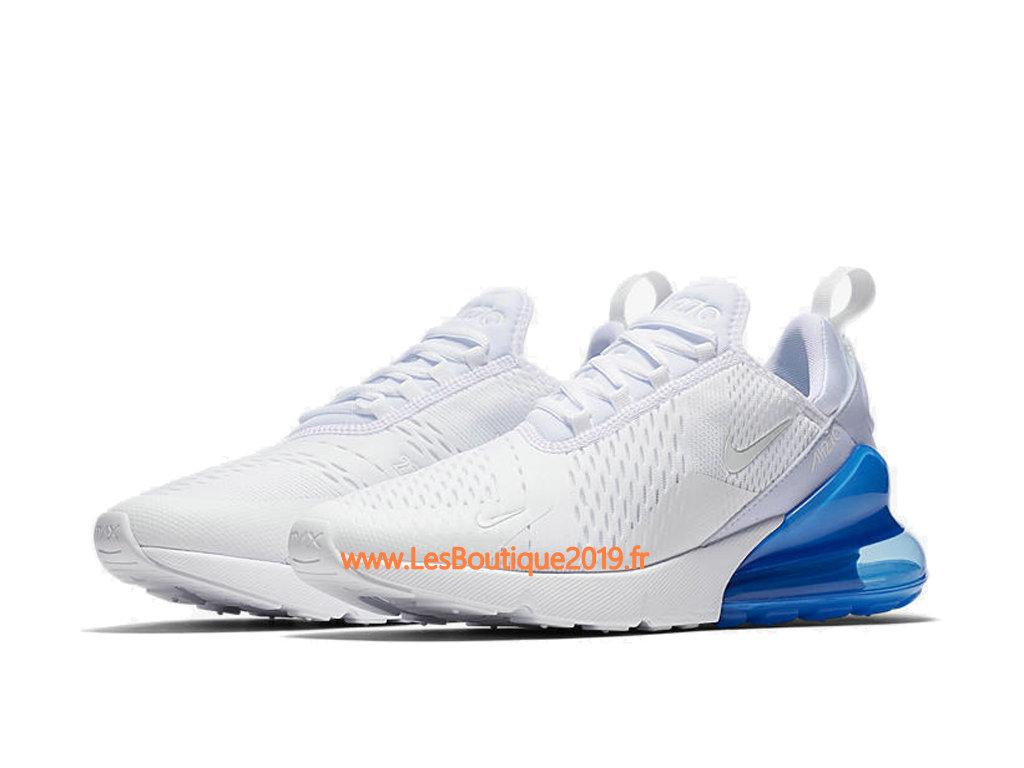 buy online c8096 66232 ... Nike Air Max 270 Blanc Bleu Chaussure de Running Pas Cher Pour Homme  AH8050-105 ...