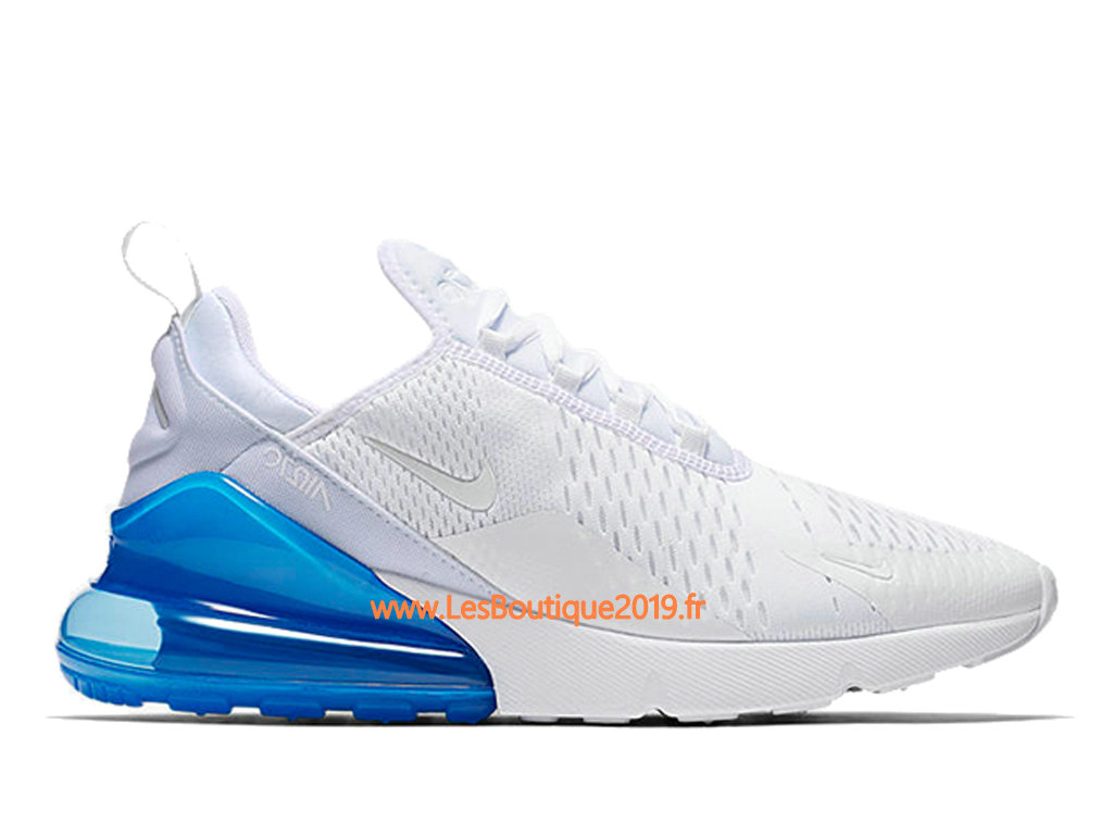 new collection official shop huge selection of Nike Air Max 270 Blanc Bleu Chaussure de Running Pas Cher ...
