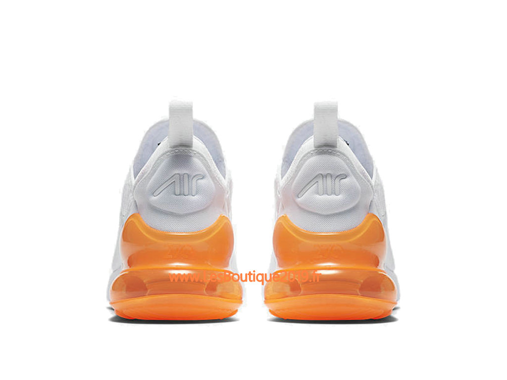 Nike Air Max 270 White Orange Men´s Officiel Prix Shoes AH8050-102 ... 0b974ba13