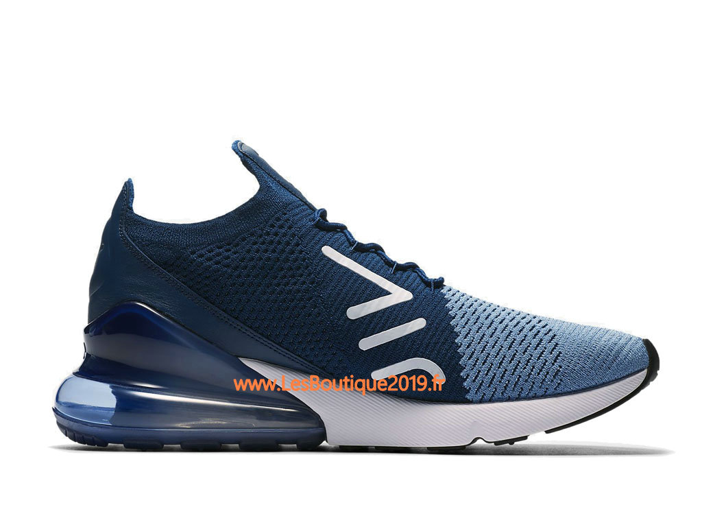 new style 0c796 f8a6b ... Nike Air Max 270 Flyknit Blue White Men´s Nike Running Shoes ...