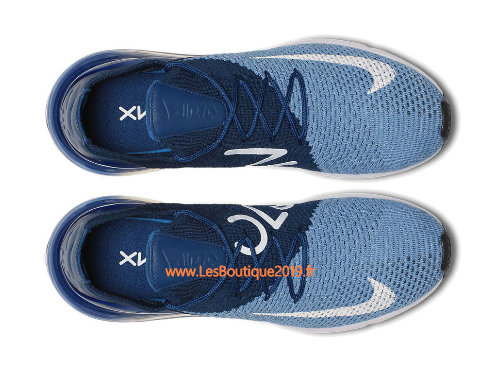new style d49f8 54fd9 ... Nike Air Max 270 Flyknit Blue White Men´s Nike Running Shoes ...