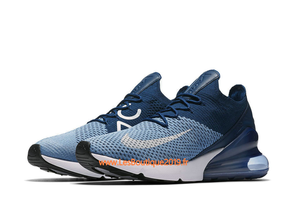 new style d4b77 ffd6c ... Nike Air Max 270 Flyknit Blue White Men´s Nike Running Shoes ...