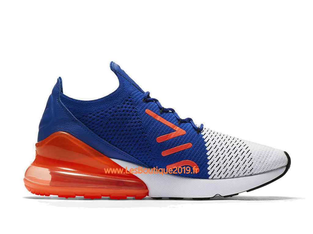 half off 23b0e 895e6 ... Nike Air Max 270 Flyknit Blue Orange White Men´s Nike Running Shoes  AO1023- ...