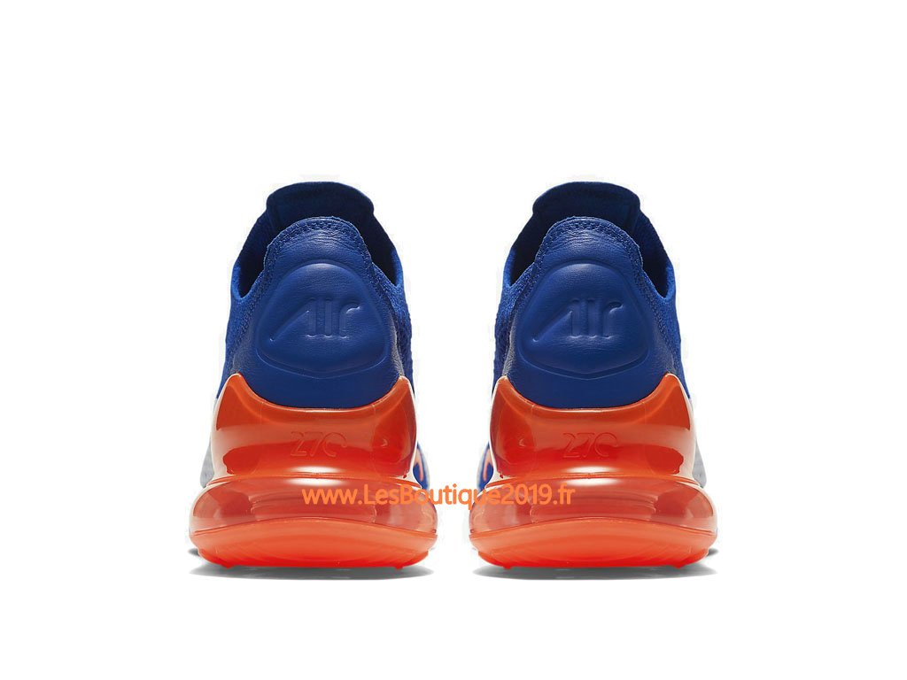 the latest 84df4 8a73a ... Nike Air Max 270 Flyknit Blue Orange White Men´s Nike Running Shoes  AO1023-