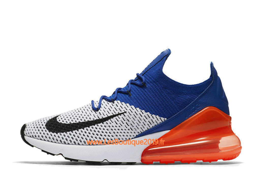 d44cdb3937 Nike Air Max 270 Flyknit Blue Orange White Men´s Nike Running Shoes AO1023-  ...
