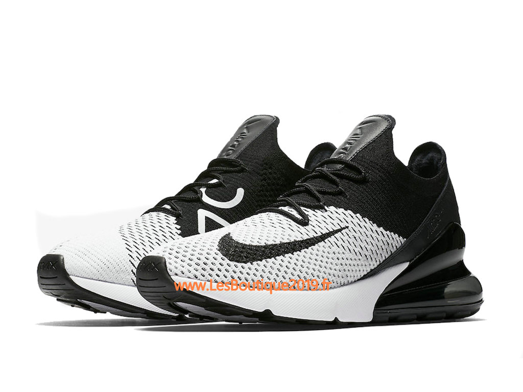 designer fashion 87496 d508b ... Nike Air Max 270 Flyknit Black White Men´s Nike Running Shoes ...
