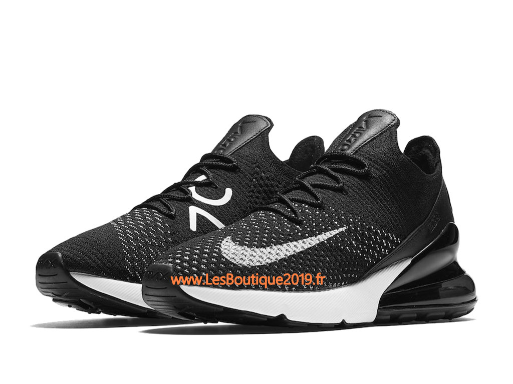 Nike Air Max 270 Flyknit Noir Blanc Chaussure Nike Basket Pas Cher Pour Homme AH6803-001