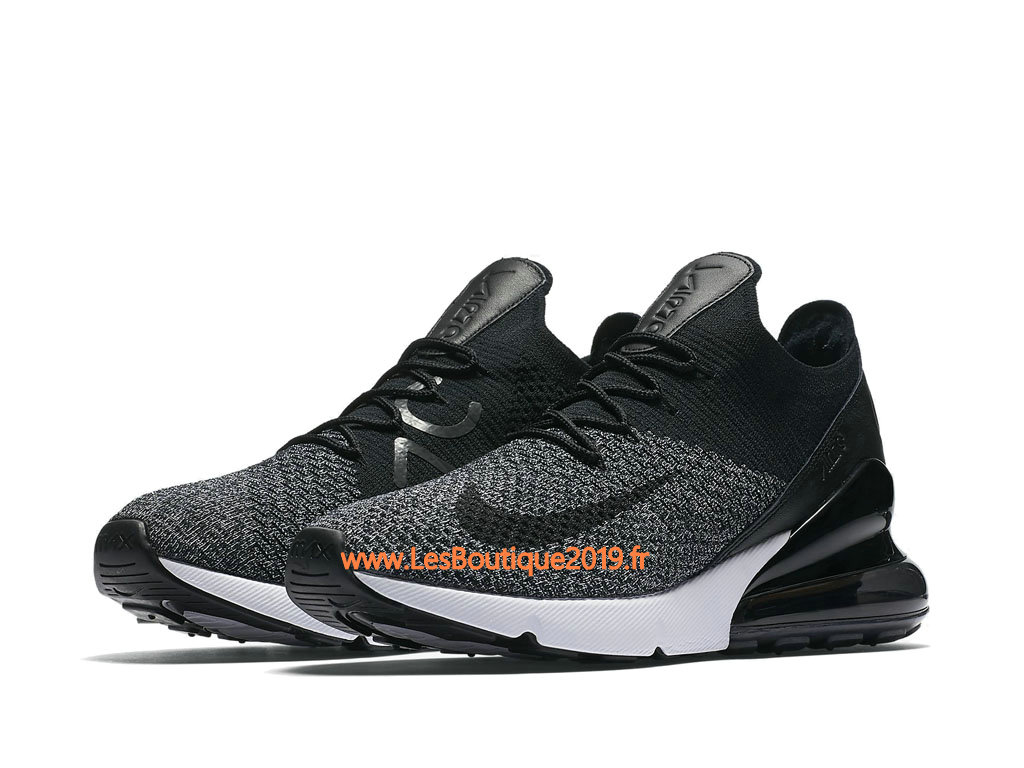 new concept fe779 8de04 ... Nike Air Max 270 Flyknit Black Gery Men´s Nike Running Shoes ...