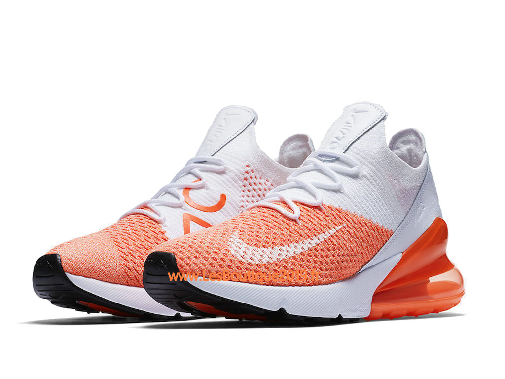half off 95bc0 e0c9a ... Nike Air Max 270 Flyknit Orange White Men´s Nike BasketBall Shoes ...
