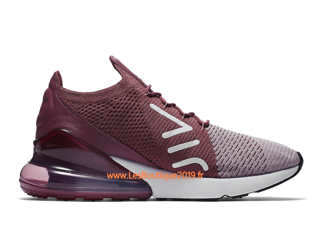 Nike Air Max 270 Flyknit Rose Gris Chaussure de Running Pas Cher Pour Homme AO1023-500